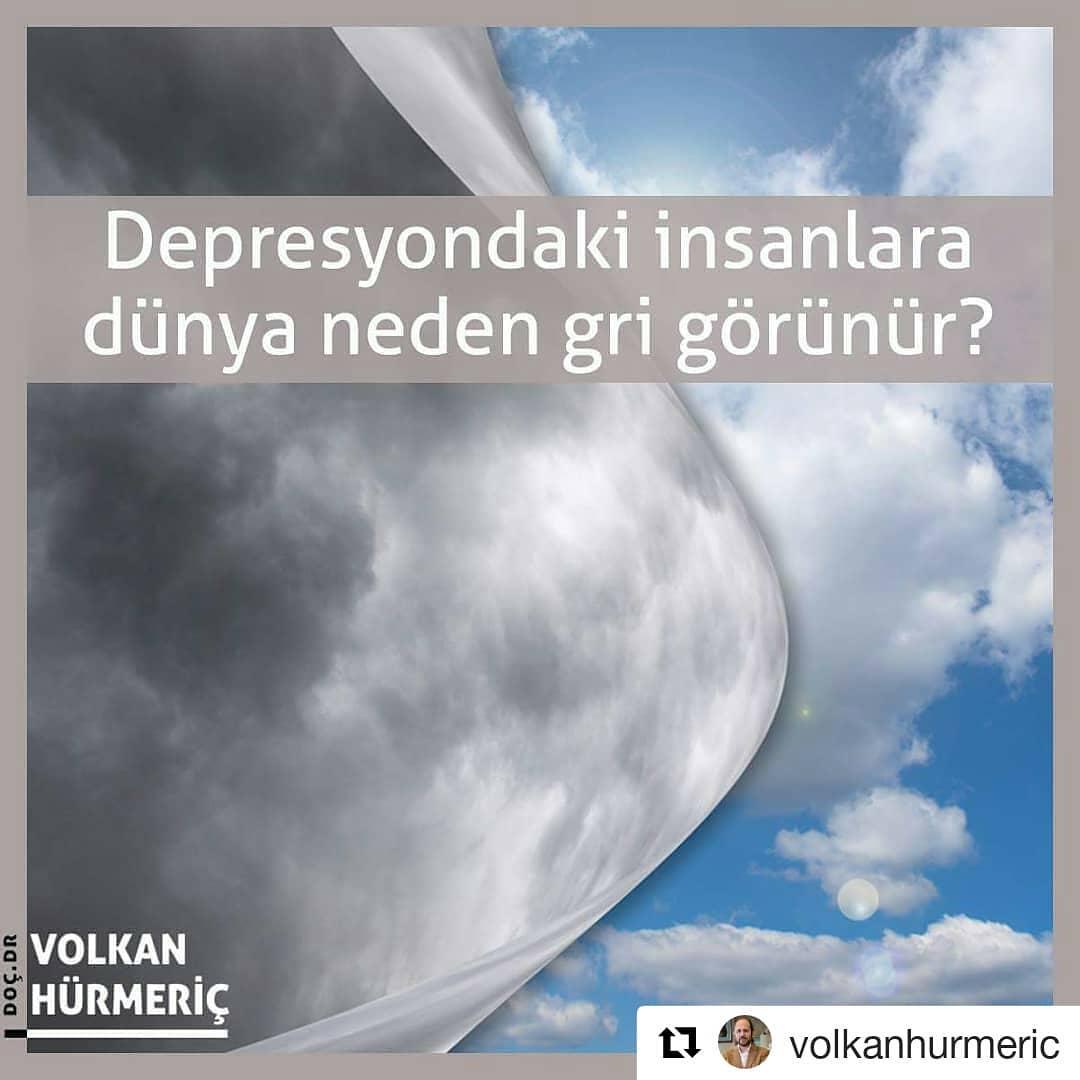 #Repost @volkanhurmeric (@get_repost) ・・・ Almanya'daki bir araştırmacı grubuna göre depresyondaki kişiler dünyayı gri renkte görüyor. Bunun nedeni de depresif kişilerin retinalarının siyah ve beyaza daha duyarlı olması. Araştırmacılar bu durumun dopamin eksikliğinden dolayı retinadaki hücrelerin doğru çalışamamasından kaynaklandığını düşünüyor. #DrVolkanHurmeric #dünyagöz #dünyagözankara #gözdoktoru #katarakt #lazertedavisi #lasik #keratokonus #toriklens #keratoplasti #kornea #korneanakli